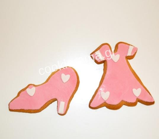 μπισκότο φόρεμα - γοβάκι